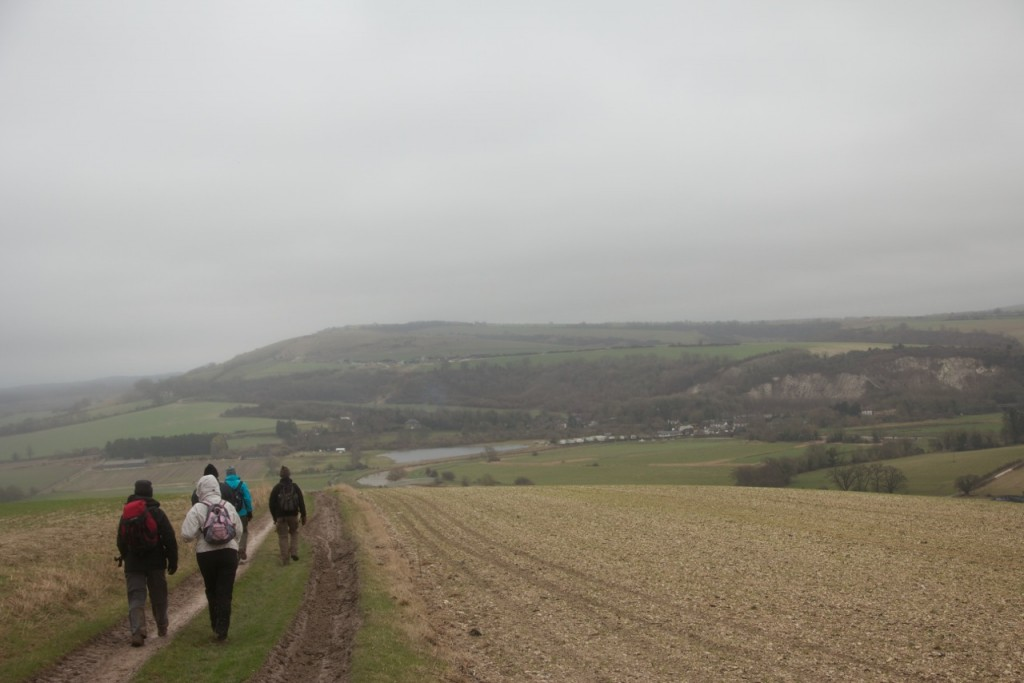 Walking back towards Houghton Bridge