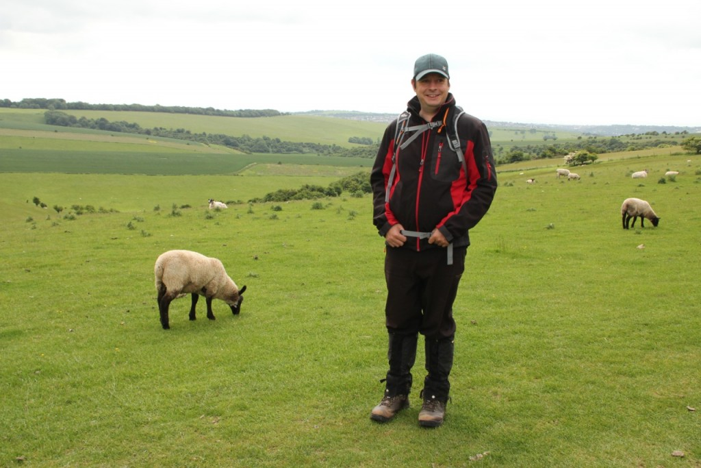 Steve and a sheep