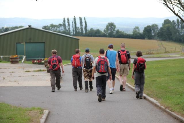 The group approach a farm