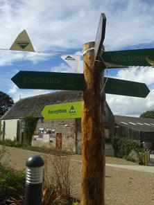 YHA signpost